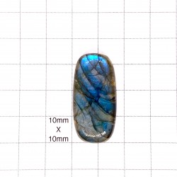 Blue Labradorite Cabochon - 34x17X6mm Sold Individually