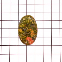 Unakite Oval Cabochon - 36x23x5mm Sold Individually