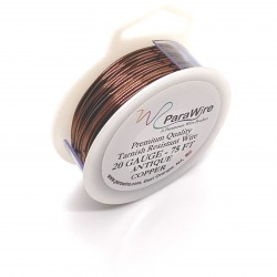 ParaWire 20ga Round Antique Copper Wire with Anti Tarnish Coating - 22 Metres