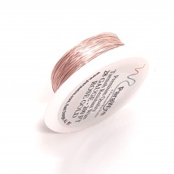 ParaWire 28ga Round Rose Gold Silver Plated Copper  Wire - 60 Metres