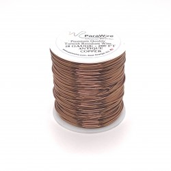 ParaWire 18ga Round Antique Copper Wire with Anti Tarnish Coating - 60 Metres