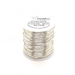 ParaWire 18ga Round Silver Plated Copper Wire - 60 Metres