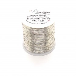 ParaWire 20ga Round Silver Plated Copper Wire - 90 Metres