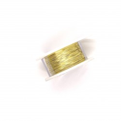 ParaWire 24ga Round Champagne Silver Plated Copper Wire - 9 Metres