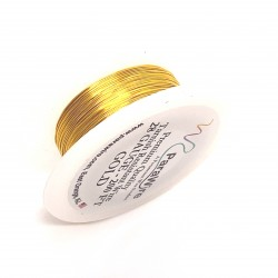 ParaWire 28ga Round Gold Finished and Silver Plated Copper  Wire - 60 Metres