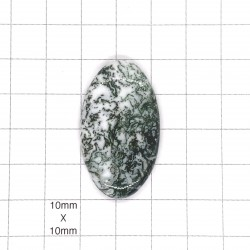 Tree Agate Oval Cabochon - 39x23x5mm Sold Individually