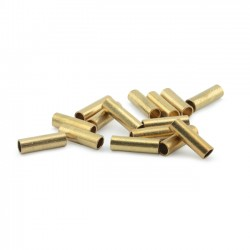 Artistic Wire Large Crimp Connector 12ga Tarnish Resistant Gold Coloured - Pack of 50