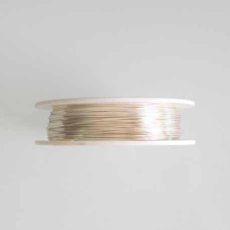 24 Gauge Round Silver Plated Copper Wire - 60 Metres