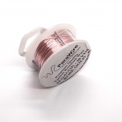 ParaWire 24ga Round Rose Gold Silver Plated Copper Wire - 9 Metres
