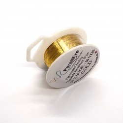 ParaWire 30ga Round Gold Finished and Silver Plated Copper  Wire - 27 Metres