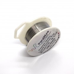 ParaWire 28ga Round Brushed Silver Plated Copper Wire - 13 Metres