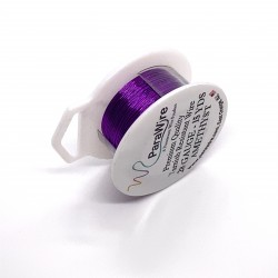 ParaWire 28ga Round Amethyst Silver Plated Copper  Wire - 13 Metres