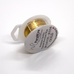 ParaWire 28ga Round Gold Finished and Silver Plated Copper  Wire - 13 Metres