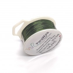 ParaWire 22ga Round Olive Copper Wire with Anti Tarnish Coating - 13 Metres