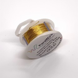 ParaWire 22ga Round Gold Finished and Silver Plated Copper  Wire - 7 Metres