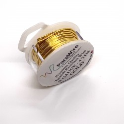 ParaWire 18ga Round Gold Finished and Silver Plated Copper  Wire - 3.5 Metres