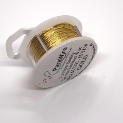 ParaWire 26ga Round Gold Finished and Silver Plated Copper  Wire - 13 Metres
