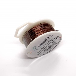ParaWire 24ga Round Antique Copper Wire with Anti Tarnish Coating - 18 Metres