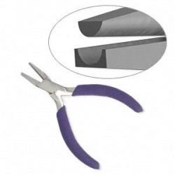 Half Round Nose and Curved Forming Pliers - 13cm in Length